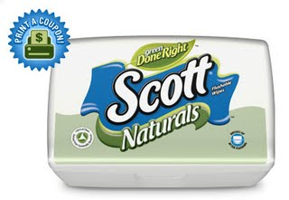 Scott Naturals Bathroom Wipes