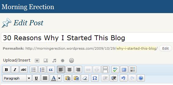 why i started