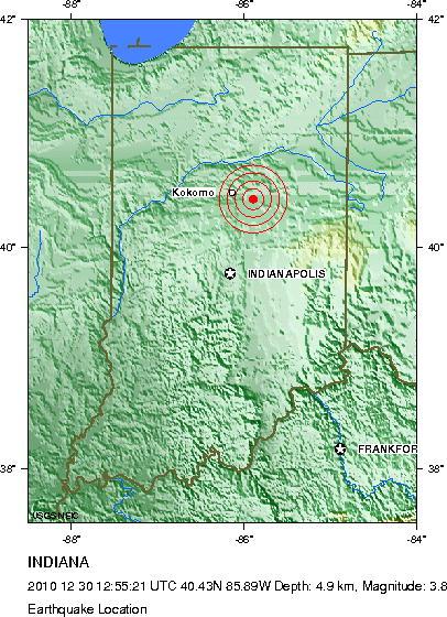 3.8 Quake Info From USGS